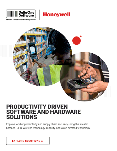 The cover of DeltaOne and Honeywell's solutions brochure.